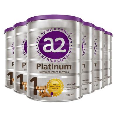 6罐裝|澳洲a2Platinum白金版嬰幼兒奶粉1段900g(0-6個月)