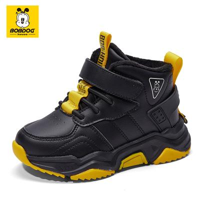 巴布豆BOBDOG HOUSE童鞋5-9岁儿童加绒棉鞋冬季新款男童鞋子女童鞋运动鞋9432
