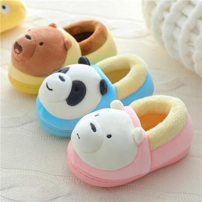 邁凱恩品牌兒童棉拖鞋冬嬰幼兒1-3歲6男女童卡通保暖包跟防滑中小童寶寶棉鞋
