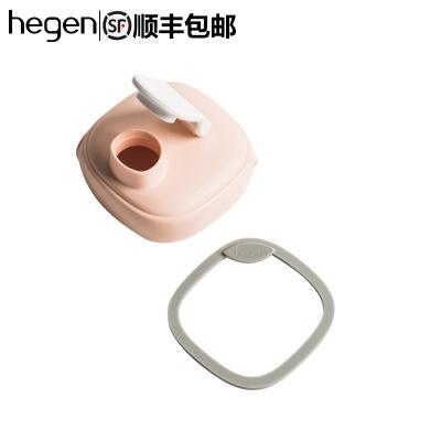hegen宽口径多功能水杯盖 宝宝婴儿童通用美式纯色卡通有盖配件水袋/水壶配件粉色