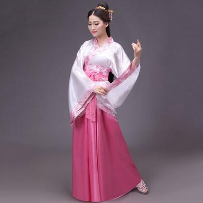 因樂思(YINLESI)漢服女曲裾嫦娥仙女舞蹈服襦裙戲曲服裝演出服學生古裝畢業成人禮