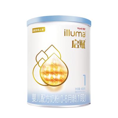 惠氏illuma啟賦嬰兒配方奶粉(0-6月齡,1段)400g