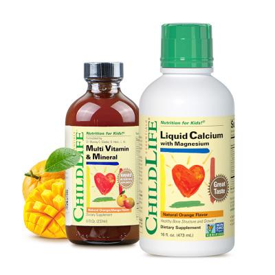 【加99元換購維C】美國童年時光 鈣鎂鋅多維鋅(473ML+237ML) 瓶裝 復合型6個月以上