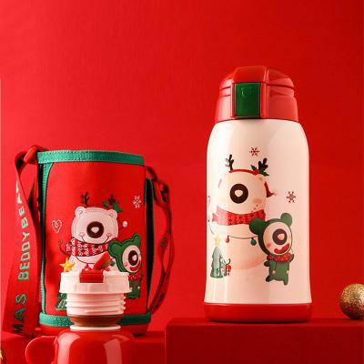 杯具熊2018限量圣誕款寶寶兒童保溫杯316不銹鋼男女水杯燜燒杯