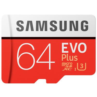 三星 64GB内存卡 tf卡 读取100MB/s CLASS 10 手机内存卡64g/microSD存储卡