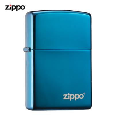 zippo之宝打火机原装ZIPPO煤油打火机20446蓝冰商标 20446ZL-043017