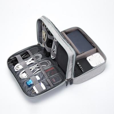 第九城(V.NINE)数码配件收纳包大容量数据线整理包充电宝移动硬盘包U盘数据线收纳包
