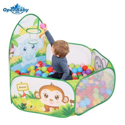 歐培(OPEN BABY)波波球池海洋球池 兒童帳篷游戲屋游戲池室內嬰兒玩具彩色球池 綠色大象 送50球