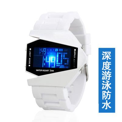韩版学生手表 led防水夜光运动电子表男童飞机表女孩儿童手表男孩同款