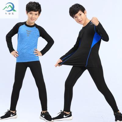 【蘇寧星選】2020夏季兒童運動緊身衣長袖速干籃球足球打底中大童跑步訓練健身套裝 邁詩蒙