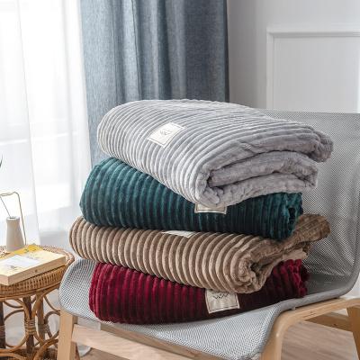 格莉安(GELIAN) 純色魔法絨毛毯雙人保暖床單珊瑚絨毯子 簡約素色辦公居家蓋毯單人學生絨毯