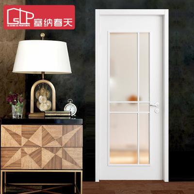 塞納春天木門室內套裝門實木復合烤漆廚房衛生間門型號131 實木復合烤漆
