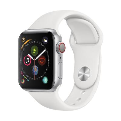 Apple Watch Series4 智能手表(GPS+ 蜂窝网络款 44毫米银色铝金属表壳 白色运动型表带)
