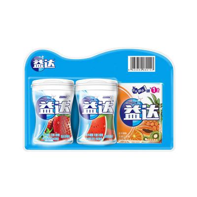 益達口香糖無糖木糖醇約40粒多瓶組合裝大瓶裝隨身薄荷味零食禮包
