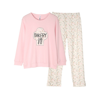 【品牌特價】紅豆居家(Hodohome)兒童家居服套裝女童全棉卡通印花長袖家居服睡衣套裝