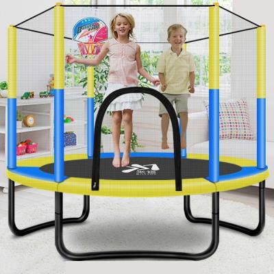 蹦蹦床家用兒童室內寶寶彈跳床小孩成人帶護網家庭玩具跳跳床 [加強款]直徑1米彈簧款蹦床(載重400斤)