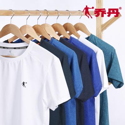 喬丹短袖T恤運動T恤2020夏季透氣吸汗跑步上衣速干衣圓領簡約學生打底衫運動服短袖男運動T恤