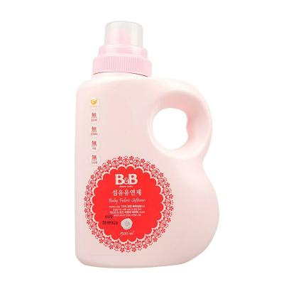 保寧(B&B)寶寶柔順劑 嬰兒衣物纖維柔順劑(柔和香-瓶裝)有香味洗衣液1500ml