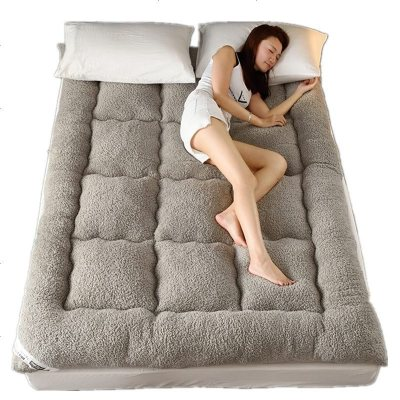 加厚羊羔绒1.5m保暖床垫学生宿舍垫被褥子1.8m珊瑚绒毛毯法兰绒冬