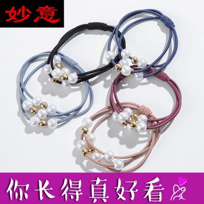 妙意頭繩女韓版可愛清新網紅手鏈兩用發繩高彈力發圈簡約扎頭皮筋發飾