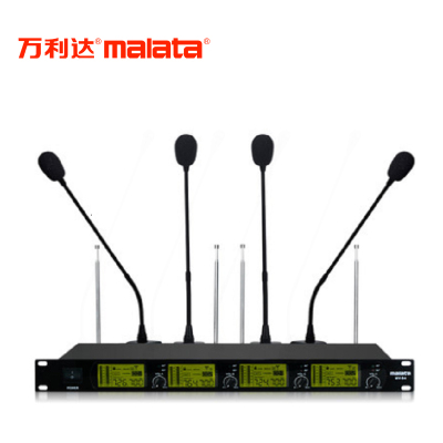 萬利達(Malata)MV-04 會議室一拖四無線話筒鵝頸式演講臺式麥克風