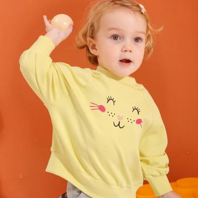 龍之涵(LONGZHIHAN)兒童衛衣女童上衣2020新款秋裝童裝寶寶長袖圓領休閑裝兒童衛衣