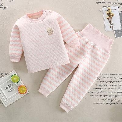 【年后发货】口袋虎时尚三层夹棉保暖套装0至5岁男女童保暖套装110cm