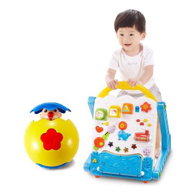 【AUBY 澳贝运动玩具套餐】-多功能学习桌 463439DS+怪诞小丑 463317DS