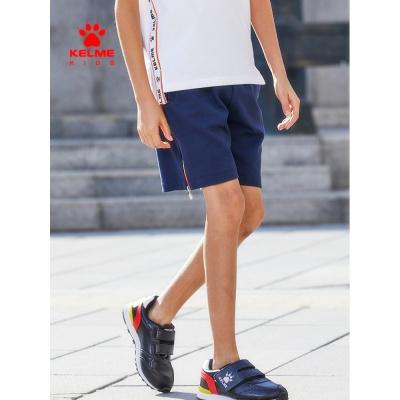 kelme(kids)男童短褲針織五分褲夏季新款兒童運動褲透氣沙灘褲
