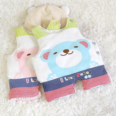 婴儿护肚围加棉春秋连脚护肚衣秋冬纯棉防着凉新生儿护肚肚兜