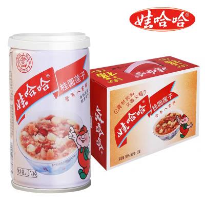 娃哈哈桂圓蓮子八寶粥360g*12罐/箱營養速食早餐粥
