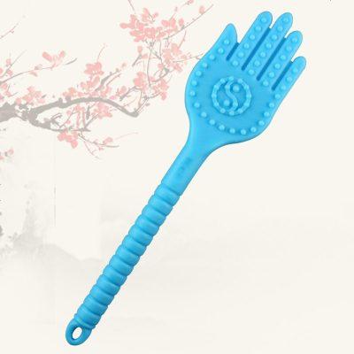 拍痧板 加長硅膠拍痧手敲打錘養生拍筋絡拍掌拍打板按摩棒 經絡拍