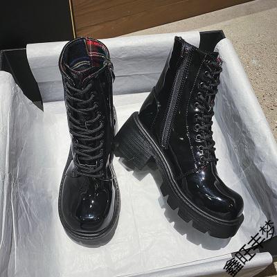 馬丁靴女潮ins2020年新款秋季百搭超火英倫風松糕厚底機車靴短靴
