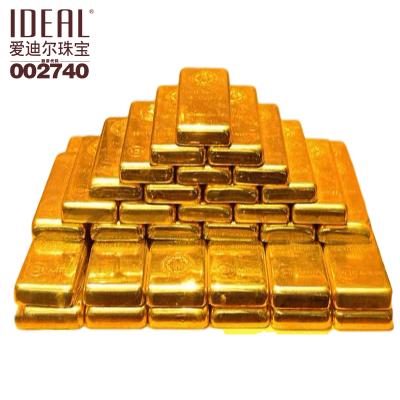 愛迪爾珠寶(IDEAL)純金Au9999黃金原料金塊足金金條碎金金錠國庫金原料加工投資收藏