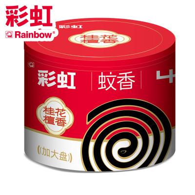 彩虹(RAINBOW)蚊香黑蚊香(大盤桂花檀香)40單圈盤香桶裝5624