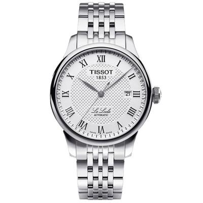 TISSOT天梭手表 力洛克系列经典腕表 机械钢带男表 男士手表 机械表 男