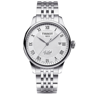 TISSOT天梭手表 力洛克系列經典腕表 機械鋼帶男表 男士手表 機械表 男