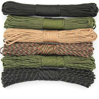 4mm粗7芯傘繩戶外繩子傘兵繩登山求生裝備編織手鏈安全繩
