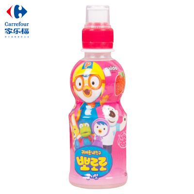 【家乐福】啵乐乐(Pororo)韩国进口草莓味饮料235毫升