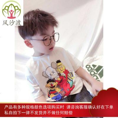 春夏亲子装短袖网红卡通芝麻街t恤 一家三口体恤母子母女半袖图片件数为展示