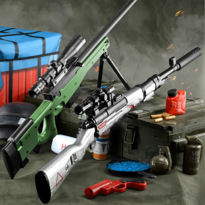 AWM儿童玩具枪98K狙击抢绝地吃鸡全套装备求生和平男孩精英黄金龙骨水弹手枪智扣黄金龙骨AWM(80CM)