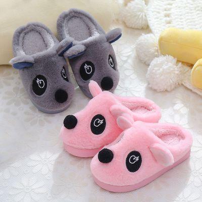 【品牌特賣】兒童棉拖鞋男女童秋冬季可愛卡通大中小童加厚拖鞋親子款棉鞋