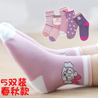 巴布豆配飾兒童襪子春秋薄款純棉襪嬰兒寶寶小童秋冬季中筒襪男童女童襪0-10歲
