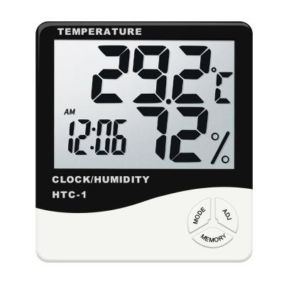 品佳 pincare電子溫度計家用室內溫濕度計嬰兒房時鐘精準室溫表高精度室外