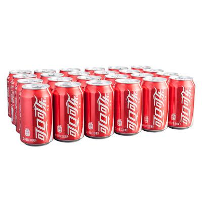可口可乐(cocacola)汽水 330ml*24听装 箱装饮料(新老包装随机发货)