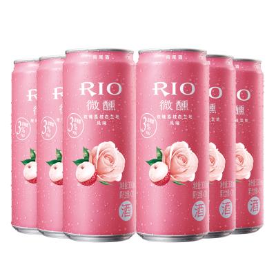銳澳(RIO)洋酒 雞尾酒 預調酒 玫瑰荔枝白蘭地風味330ml*6罐