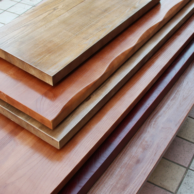 BONJEAN老榆木松木原木实木板材吧台餐桌面办公会议桌洽谈电脑学习桌板