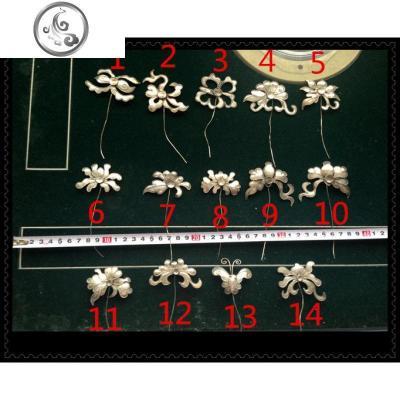 老銀匠原創手工銀飾/掐花絲小花發簪/漢服配飾/中式古裝苗銀頭飾   JiMi