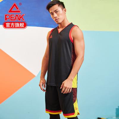 匹克籃球服男2019新款透氣籃球訓練比賽套裝