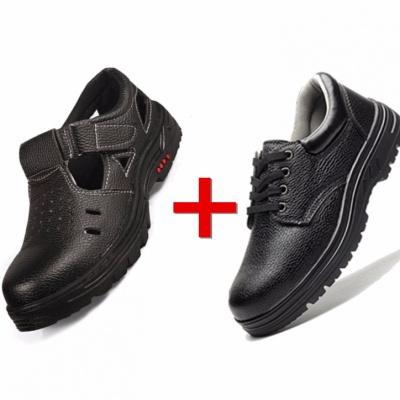 夏季勞保鞋男女透氣鞋防砸防刺鋼包頭涼鞋防滑工作安全鞋